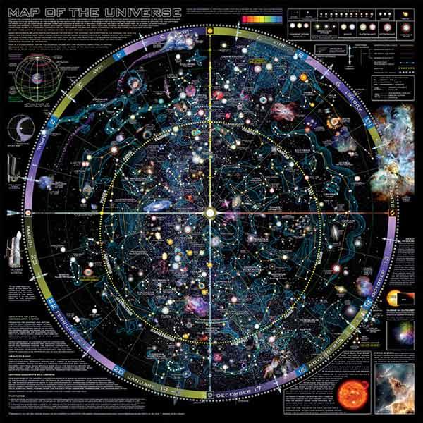 Skymapscom Astronomy Posters - Star map northern hemisphere